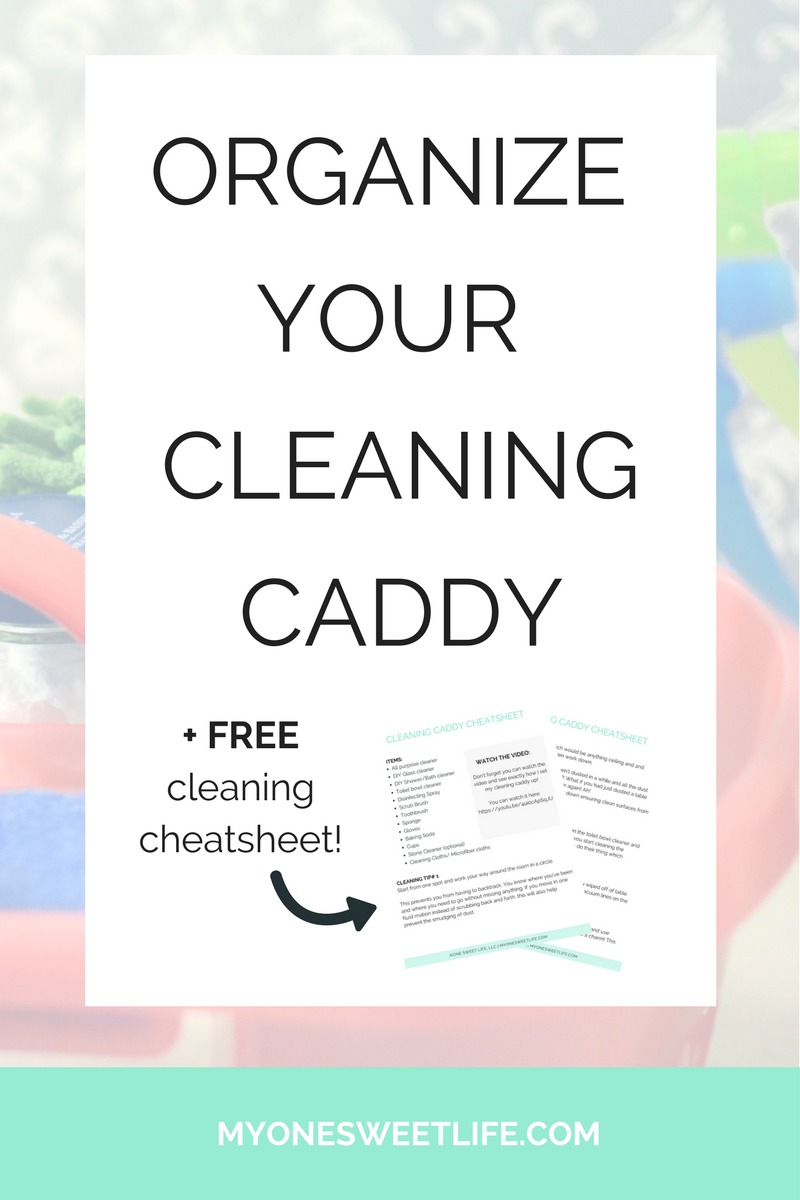 easily clean you house | how to set up and organize your cleaning caddy