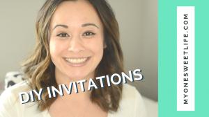 One Sweet Life | OSLchat DIY Invitations