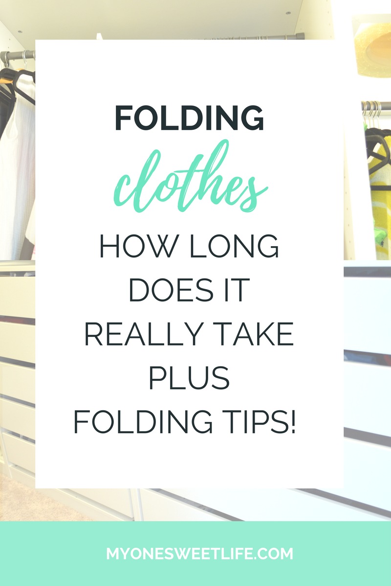 Folding Clothes | 3 Tips to Folding Laundry Faster | One Sweet Life
