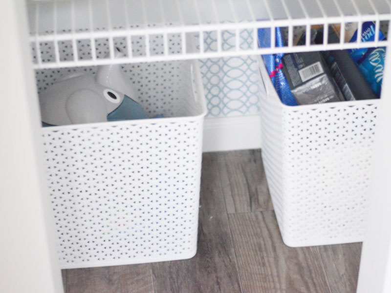 Linen Closet Organization | Closet Organizer Ideas | Bathroom Organizers |  Target Room Essential Baskets |